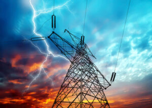 Electricity Towers Lightning